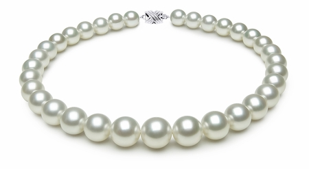 12.1 x 14.6mm White Australian South Sea Pearl Necklace | Serial Number s9-ra01166w-b44