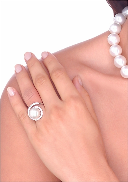 12.5mm White South Sea Cultured Pearl Ring