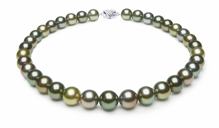 12 x 12.8mm Multicolor Tahitian Pearl Necklace