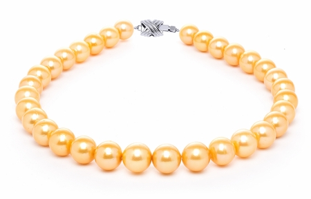 12mm x 15mm Golden Freshwater Cultured Pearl Necklace