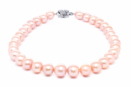 12mm x 15mm Pink Freshwater Cultured Pearl Necklace