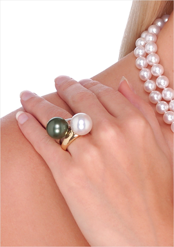 13mm 14mm South Sea Cultured Pearl Rings American Pearl