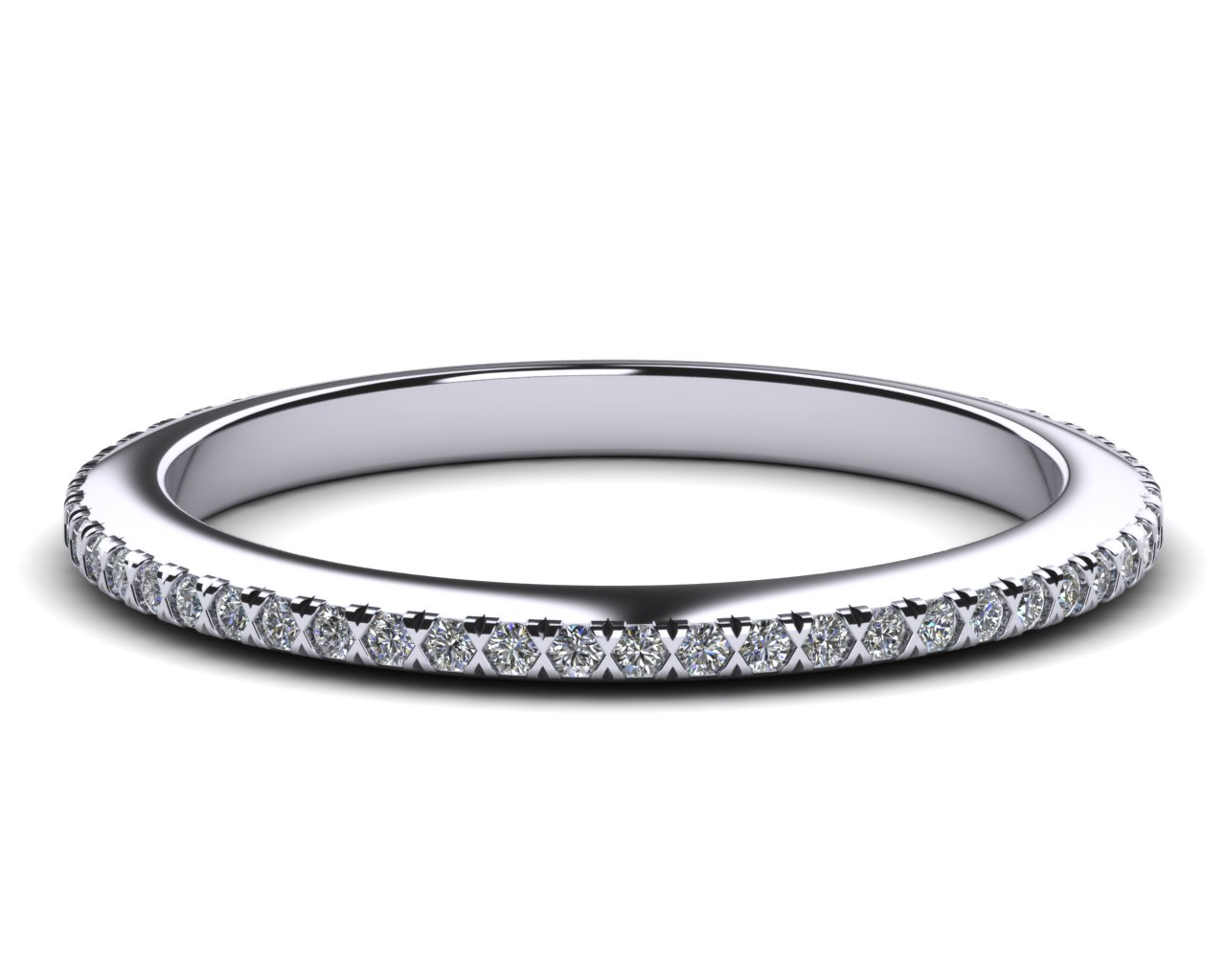 wedding scalloped band bands with fishtail pave diamond coast item