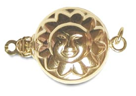 14K Yellow Gold Golden Sun Clasp