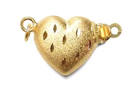 14K Yellow Golden Heart Clasp