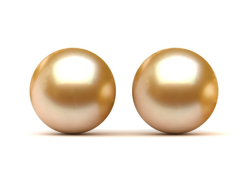 14mm Golden South Sea Pearl Earrings