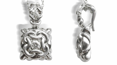 18K White Gold Removable Pendent