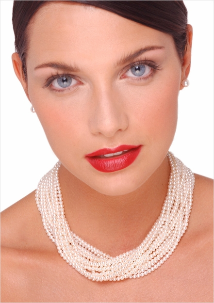 3.5 x 4mm Freshwater Multi Strand Necklace