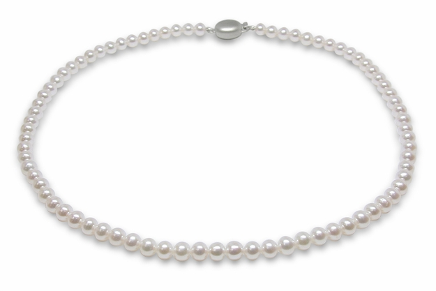 3.5 X 4mm High Quality Freshwater Cultured Pearl Necklace