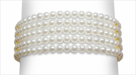 3 x 3.5 mm Cultured Pearl 5 Strand Bracelet