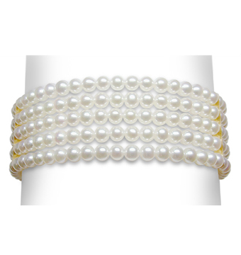 3 x 3.5 mm Cultured Pearl 5 Strand Bracelet - $525