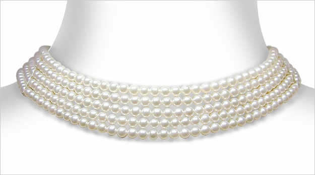 3 X 3.5 mm Cultured Pearl Collar Necklace