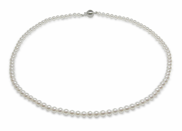 3 x 3.5mm High Grade Freshwater Cultured Pearl Necklace