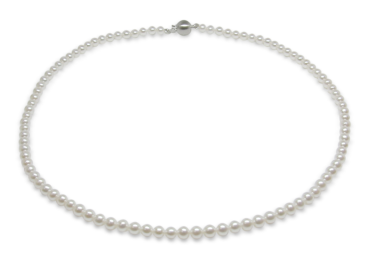 3 x 3.5mm High Quality Freshwater Cultured Pearl Necklace