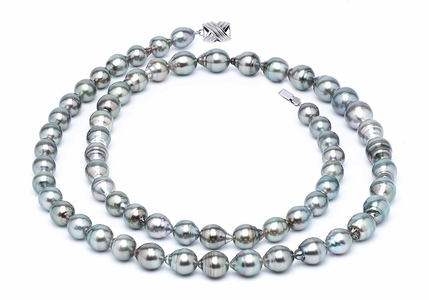 32 Inch 10 x 12mm Tahitian Pearl Necklace Serial Number | s10-grey-color-b12
