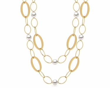 32 Inch South Sea Pearl Circle of Life Necklace