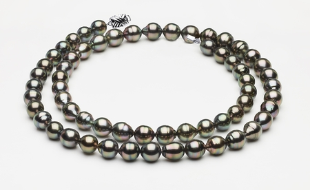 32 Inch Tahitian Pearl Peacock Necklace Serial Number | 10mm-12mm-tahitian-pearl-necklace-baroque-south-sea-true-aaa-32inch-s8-clabc18-peacock-color-b78
