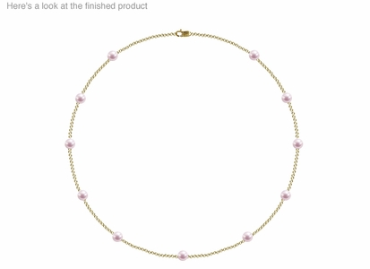 5.5 x 6mm A+ Quality  Japanese Akoya Cultured Pearl Tin Cup Necklace