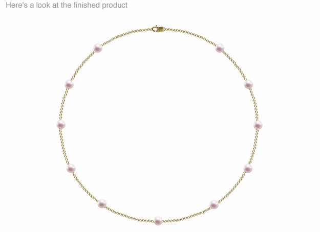 5.5 x 6mm A Quality  Japanese Akoya Cultured Pearl Tin Cup Necklace