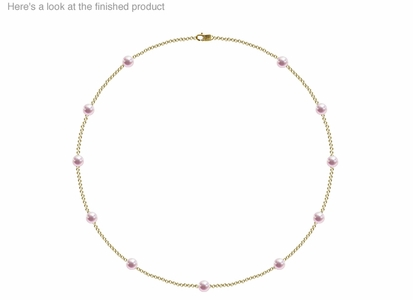 5.5 x 6mm AA Quality  Japanese Akoya Cultured Pearl Tin Cup Necklace