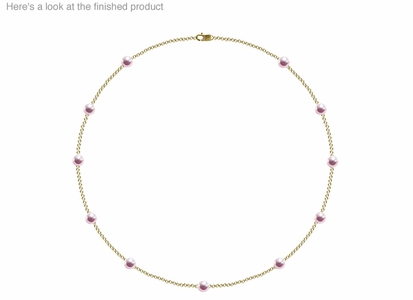 5.5 x 6mm AAA Quality  Japanese Akoya Cultured Pearl Tin Cup Necklace