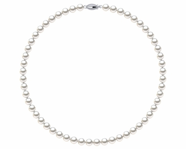 8b37d4426 6.5-7.0 mm AAA White Freshwater Pearl Necklace With Sterling Silver Clasp