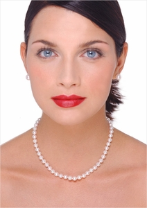 6.5 x 7mm Japanese Akoya Cultured Pearl Necklace - 6 inches