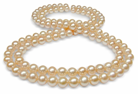 6.5 x 7mm Peach Freshwater Cultured Pearl Necklace
