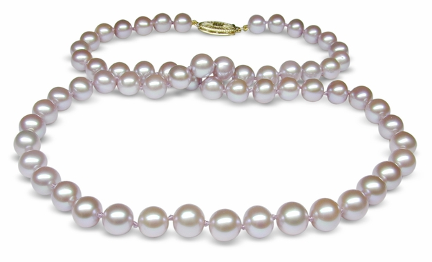 6.5x7mm Lavender Freshwater Cultured Pearl Necklace