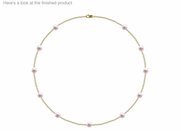 6 x  6.5mm A Quality  Japanese Akoya Cultured Pearl Tin Cup Necklace