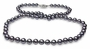 6 x 6.5mm Black Freshwater Cultured Pearl Necklace