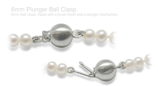 6mm Plunger 14K Gold Ball Clasp