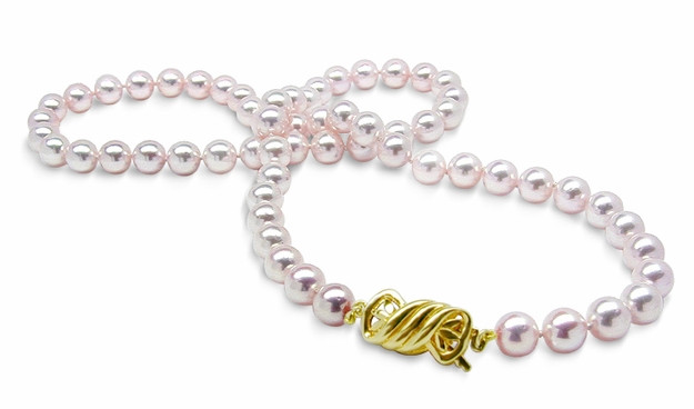 6mm x 6.5mm AAA Quality Chinese Akoya Cultured Pearl Necklace