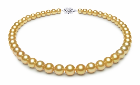 7.1 x 10.1mm Golden Pearl Necklace Serial Number   s9-ra01874g-b37