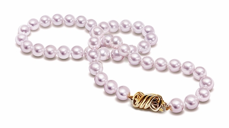 7.5 x 8mm AA Quality 51 Inch Cultured Pearl Necklace