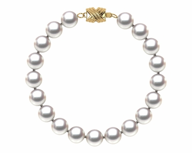 7.5 x 8mm Japanese Akoya Cultured Pearl Bracelet