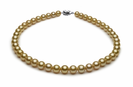 7.7 x 10mm Golden Pearl Necklace Serial Number   s8-dr02217g-b7