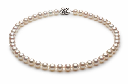 7 x 8mm White High Grade Freshwater Pearl Necklace