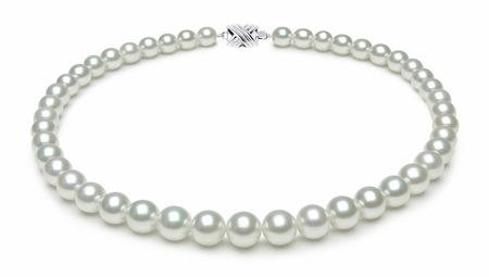 8.0 x 9.7mm White South Sea Pearl Necklace Serial Number | s9-dr06052w-b40