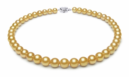 8.4 x 9.8mm Tahitian Pearl Necklace Serial Number   s9-ra01761g-b38