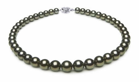 8.5 x 11.3mm Peacock Tahitian Pearl Necklace