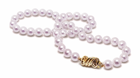 8.5 x 9mm A+ Quality 51 Inch Cultured Pearl Necklace