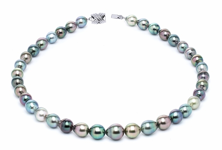 8 x 10mm Multicolor Baroque Tahitian Pearl Necklace