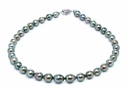 8 x 10mm Peacock Baroque Tahitian Pearl Necklace