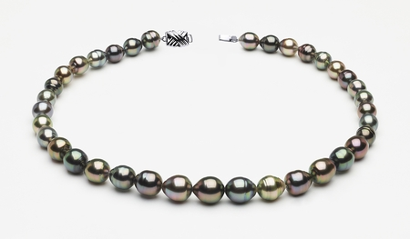 8 x 10mm Tahitian Pearl Multicolor Baroque Necklace | Serial Number s8-clabc-multi-color-b58