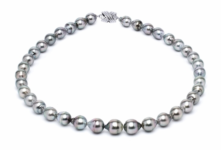 8 x 10mm Tahitian Pearl Necklace Serial Number | s10-grey-color-b2