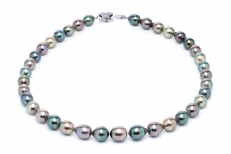 8 x 10mm Tahitian Pearl Necklace Serial Number | s10-multi-color-b14