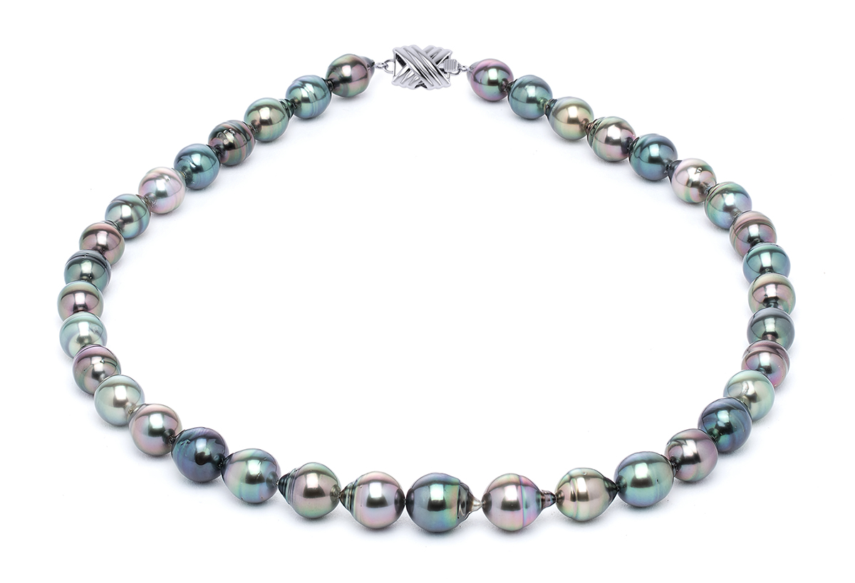 8 X 10mm Tahitian Pearl Necklace Serial Number S10 Multi