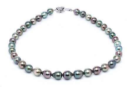 8 x 10mm Tahitian Pearl Necklace Serial Number | s10-multi-color-b16