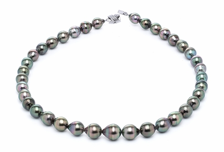8 x 10mm Tahitian Pearl Necklace Serial Number | s11-peacock-color-b3